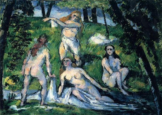 Cezanne, Paul: Four Bathers. Fine Art Print/Poster. Sizes: A4/A3/A2/A1 (001019)